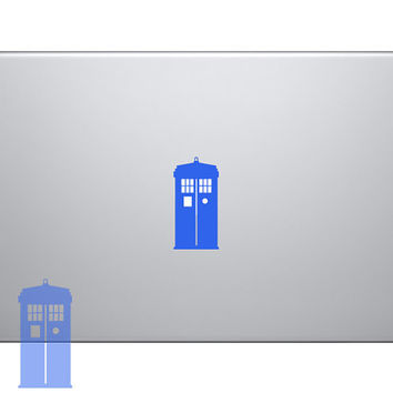Tardis Dr Doctor Who Vinyl Sticker Laptop Macbook Mac Air Apple