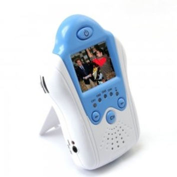 LCD Wireless IR Camera Baby Monitor White and Blue
