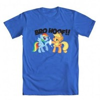 My Little Pony Friendship Is Magic Rainbow Dash and Applejack Bro Hoof Adult Royal Blue T-shirt - My Little Pony - | TV Store Online