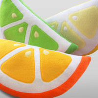 Citrus Pillows, Lemon, Orange, Lime Pillows