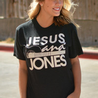 Jesus and Jones Tee - Dark Charcoal