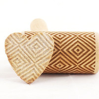 Geometric pattern - engraved, embossed rolling pin for cookies