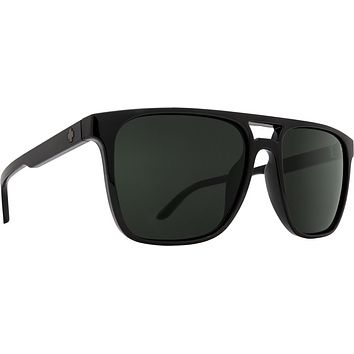 Spy - Czar Black Sunglasses / Happy Gray Green Polarized Lenses