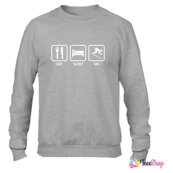 Eat Sleep Ski_ Crewneck sweatshirtt