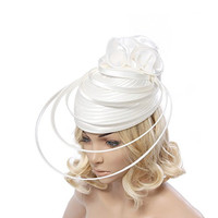 Lady flower fascinators hats women elegant fascinators for wedding party and races