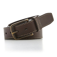 Roundtree & Yorke Leather Belt - Brown