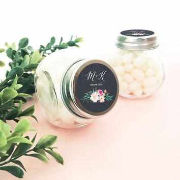 Personalized Floral Garden Candy Jars