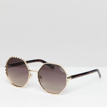Quay Australia Breeze in round sunglasses at asos.com