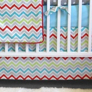 Crib Skirt | Calypso Luxury Baby Bedding Set