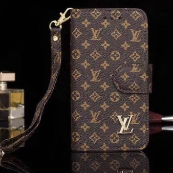 Louis Vuitton LV Leather Protective Cover iPhone Case