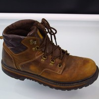 Skechers 60481 Leather Work Boots Mens Size 11
