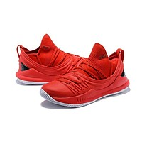 Under Armour Curry 5 Red Black White Men Sneaker