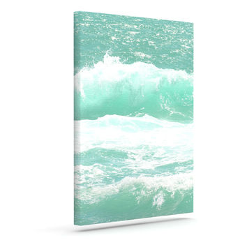 "Monika Strigel ""Maui Waves"" Teal Green Canvas Art"