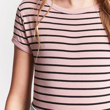 Girls Striped Bodysuit (Kids)