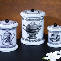 Teapot Canisters Set of 3