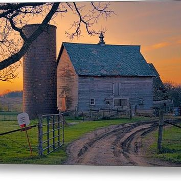 Birch Barn Canvas Print / Canvas Art By Bonfire Photography