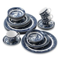 Johnson Brothers Willow Blue 20-Piece Place Setting