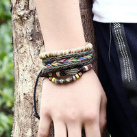 Hot Selling Handmade multi-layer leather bracelet