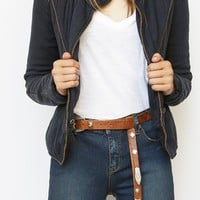 Free People Giddy Up Leather Belt