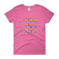 Autism Shirt Mom - Autism Awareness Shirt for Mom Gift for her Mothers Day Gift - Women's short sleeve t-shirt