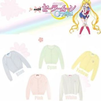 Anime Sailor Moon Cute Girls Long Sleeve Casual Shirt Thin Sweater Outwear Top