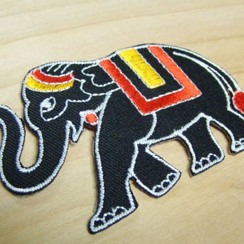 Elephant Patch - Embroidered Iron-on Patch