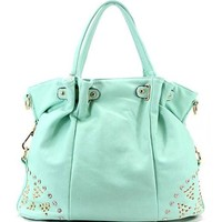 Mint gold stud handbag