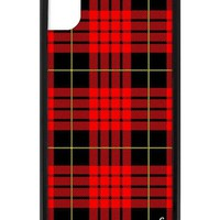 Red Plaid iPhone Xr Case