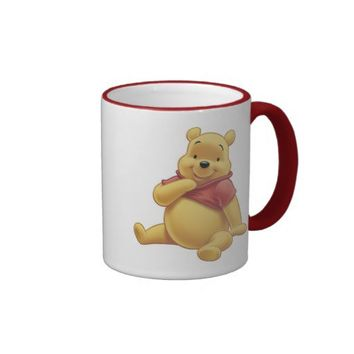 Winnie The Pooh Bear sitting smiling Mug from Zazzle.com