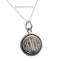 Monogrammed Sterling Silver Nala Necklace | Personalized Jewelry