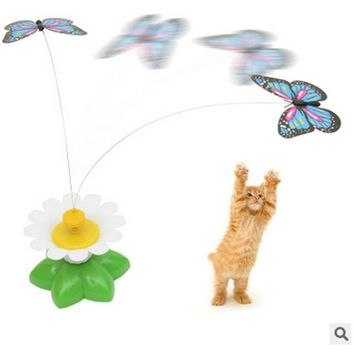 electric butterfly bird cat teaser toy feather cat teasers cats products for pet cat toys