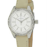 FOSSIL® Women's Leather Quartz Watch with Crystals