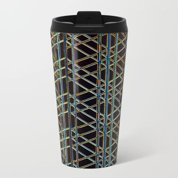 Abstract Design 1 Metal Travel Mug by Claude Gariepy