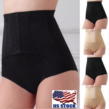 Women Body Shaper Control Tummy Corset High Waist Shapewear Panties Underwear US
