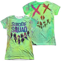 Suicide Squad Movie Poster Sublimated Juniors T-Shirt