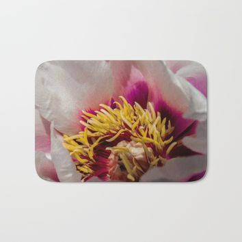 Peony Bath Mat by Scott Hervieux