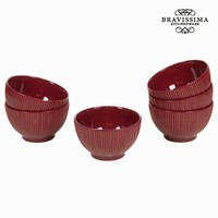 Burgundy bowl set of 6 - Kitchen's Deco Collection by Bravissima Kitchen