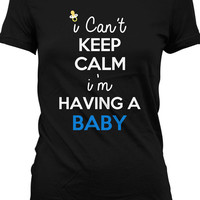 Funny Pregnancy T Shirt Gifts For Expecting Mothers Maternity Keep Calm Shirt Joke Ladies Tee MD-120