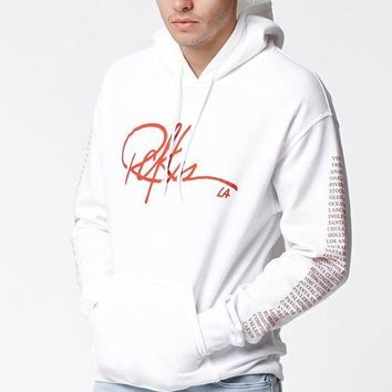 ICIKJH6 Young and Reckless Insignia Pullover Hoodie