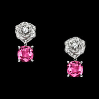 White gold Tourmaline Diamond Earrings G38U0052 - Piaget Luxury Jewelry Online