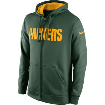 Green Bay Packers Nike KO Warp Full Zip Hoodie - Green