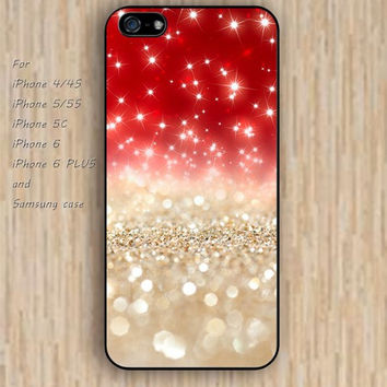 iPhone 5s 6 case golden and red sparkle lighting Dream catcher colorful phone case iphone case,ipod case,samsung galaxy case available plastic rubber case waterproof B471