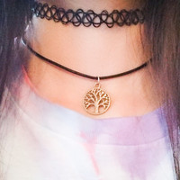 Bronze tree choker