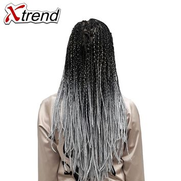 Xtrend Ombre Synthetic Jumbo Braids Crochet Hair Kanekalon Braiding Hair Extensions 100g 24inch Two tone Fiber Heat Resistant