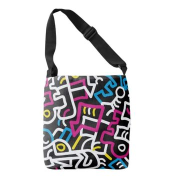 Mazed and Confused Cross Body Tote Bag