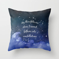 Thoughts and stars... Throw Pillow by Kate