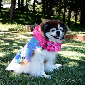 Luau Purple Hawaiian Dog Dress