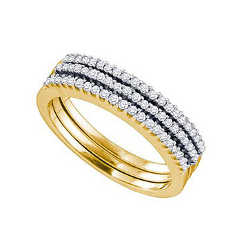 Diamond Fashion Band in 10k Gold 0.28 ctw