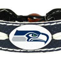 Seattle Seahawks Team Color Football Bracelet