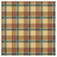 Metallic Brown Yellow Plaid Pattern Fabric